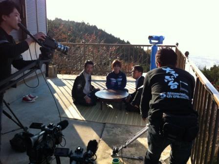 ちゃぶ台 撮影風景 WTV テレビ和歌山