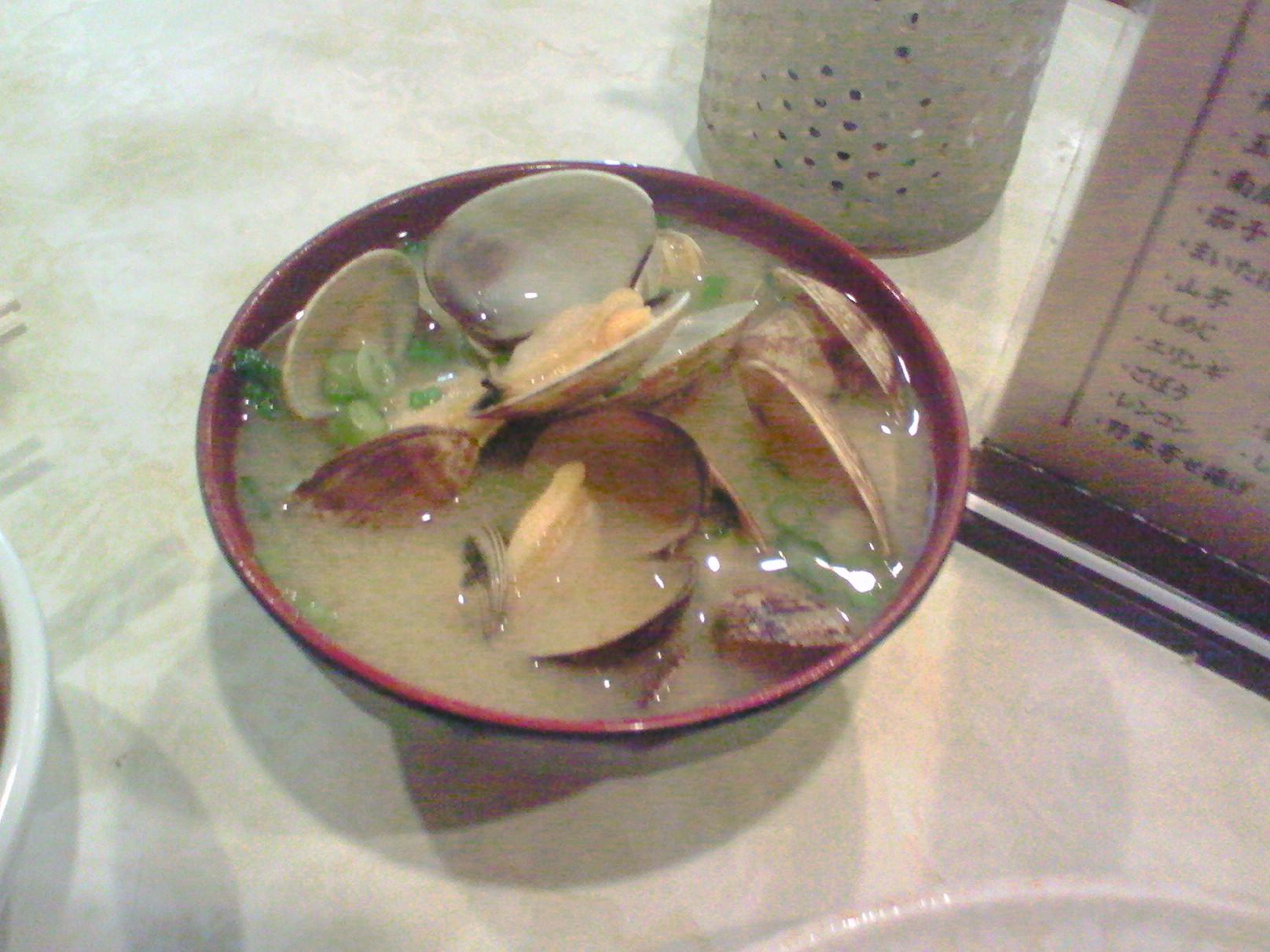 堺魚市場 天ぷら大吉 名物 あさり汁